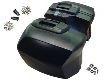 BMW Set of 2 Motorcycle Pannier Touring - F800R / F800GT (Codable Key)