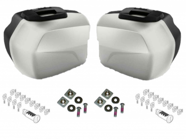 BMW Pack Valises Touring (LIGHT WHITE) - F900XR (K84) - (KEYLESS)