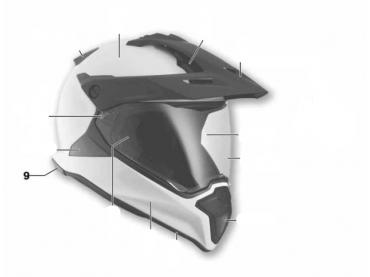 BMW Cache arrière casque GS...